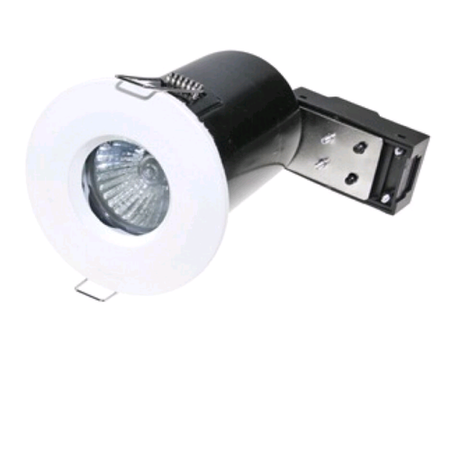 White Fixed Fire Rated IP65 Spotlight