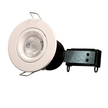 Fixed Fire Rated Downlight - White Twist & Lock