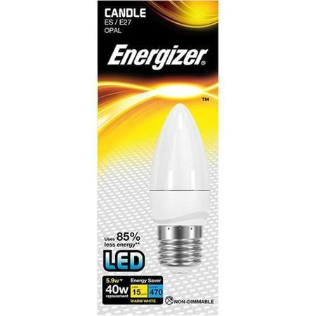 Energizer LED E27 Candle Warm White Light Bulb
