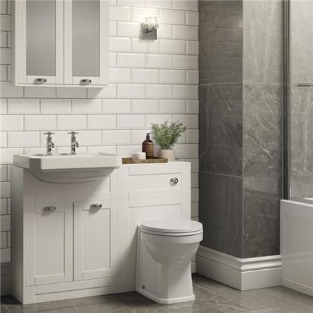 metro white wall tile - better bathrooms