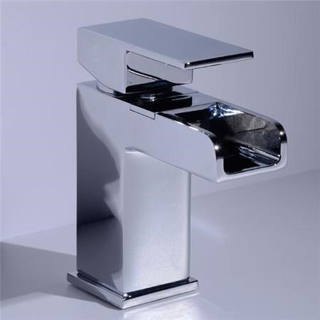 Quadra Waterfall Basin Mixer and Bath Shower Mixer Tap Pack