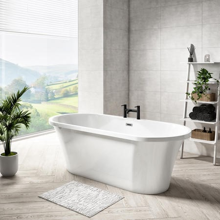 Double Ended Freestanding Bath - L1670 x W730mm - Venice