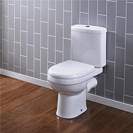 Ivo Close Coupled Toilet with Push Button Cistern - Soft Close Seat