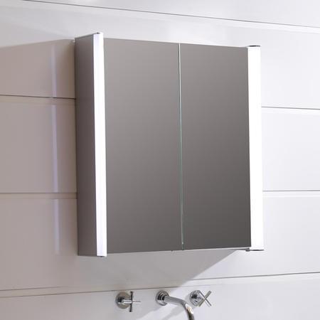 Ora Double Door Illuminated Led Mirrored Cabinet Beba 17236