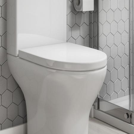 Portland Soft Close Toilet Seat - Wrap around Design - Top Fixing