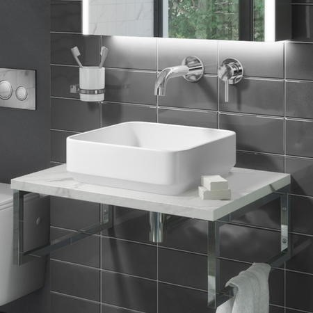Augusta 360mm Matt White Countertop Basin