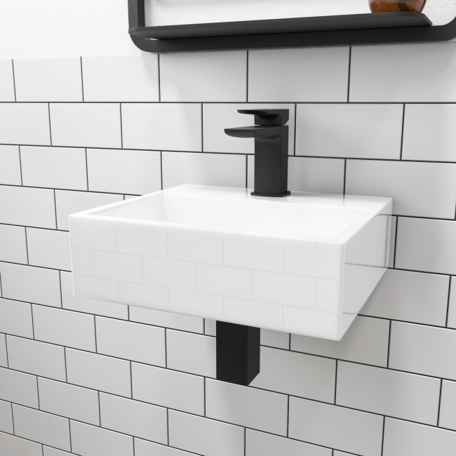 Houston Wall Hung Cloakroom Basin - 330mm
