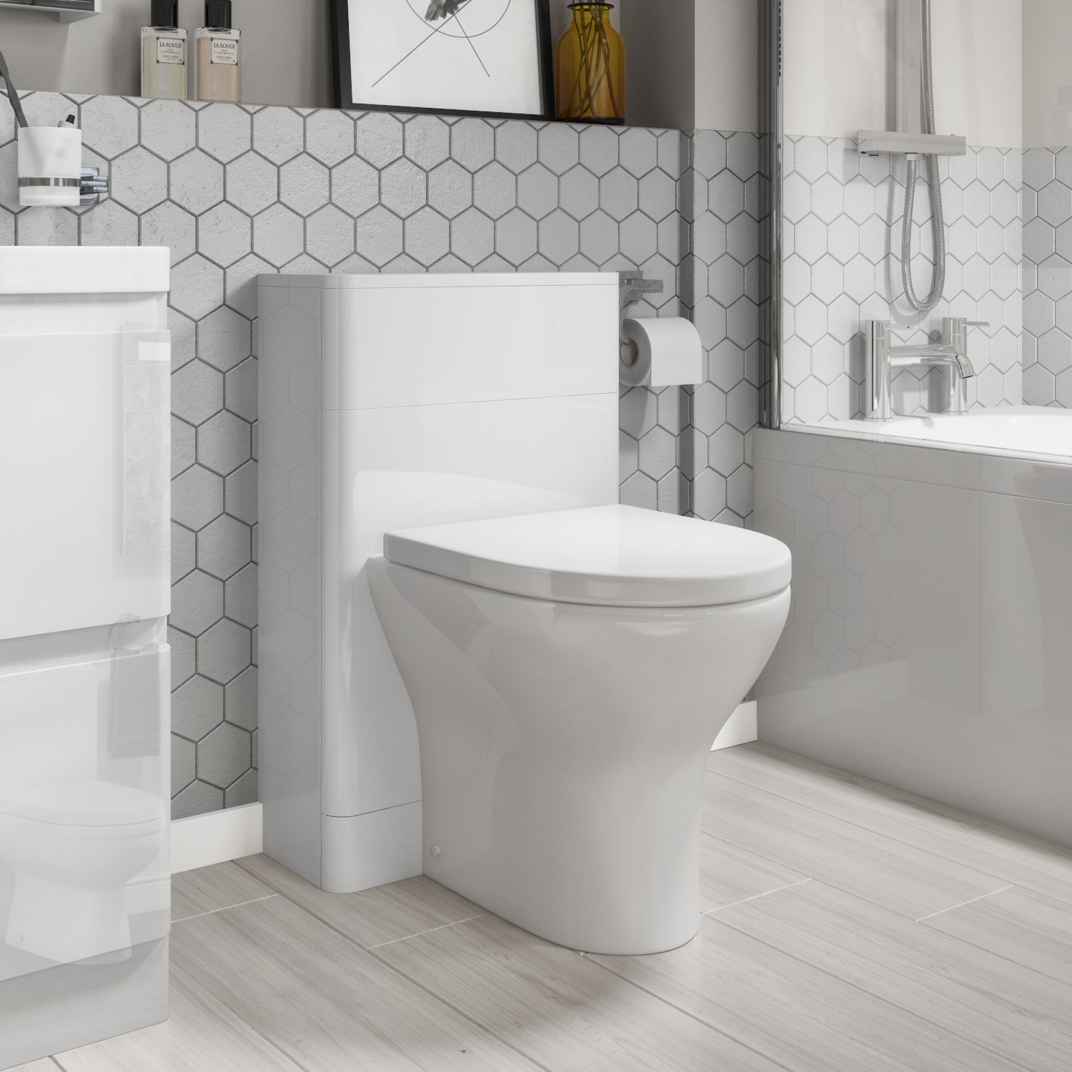 Portland Back To Wall Wc Toilet Unit 500mm White Gloss Better Bathrooms