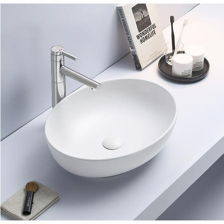 Verona Round Matt White Countertop Basin
