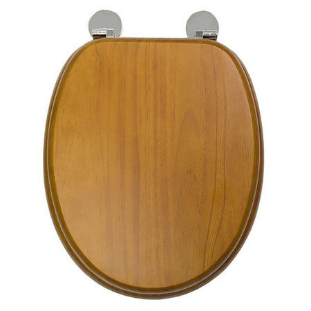 Flexi Fix Davos Antique Effect Solid Pine Toilet Seat