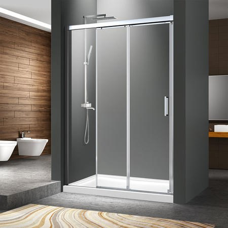 Ultra Minimal Triple Slider Shower Door 1200mm - 8mm Glass - Pavo Range