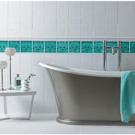 V&A White Plain Field Wall Tile - Better Bathrooms