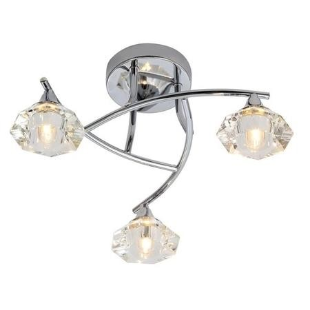 Reena 3 Light Flush Ceiling Light Chrome
