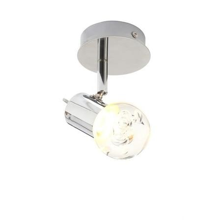 Bubble LED Ceiling Flush plate Single Spot Light Chrome
