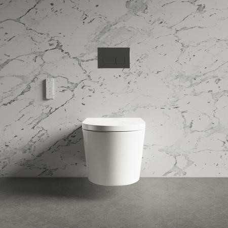Wall Hung Bidet Toilet Combo- Built in Dryer & Spray-Purificare