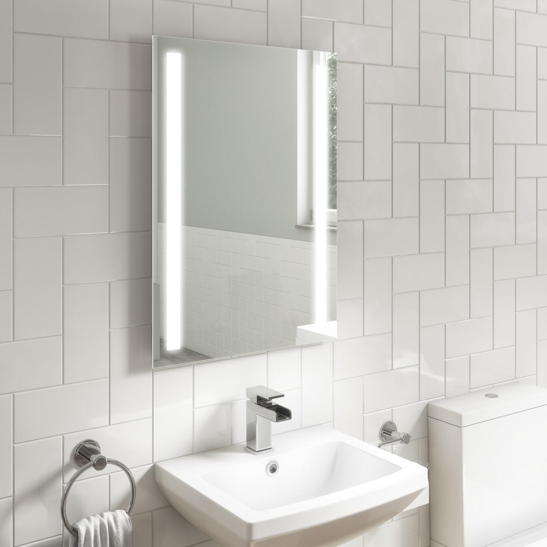Rectangular Led Bathroom Mirror With Demister 500 X 700mm Capella Better Bathrooms