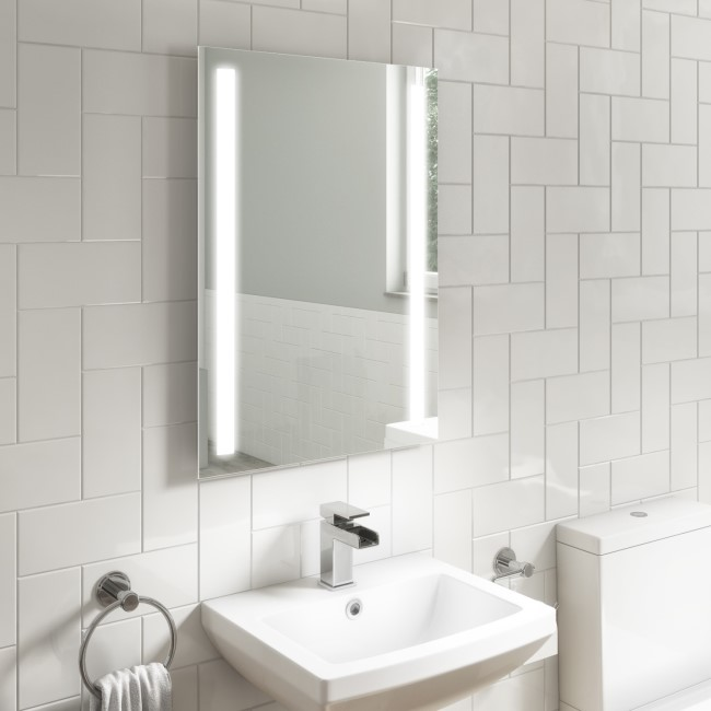 Capella Illuminated LED Bathroom Mirror with Demister - 500 x 700mm