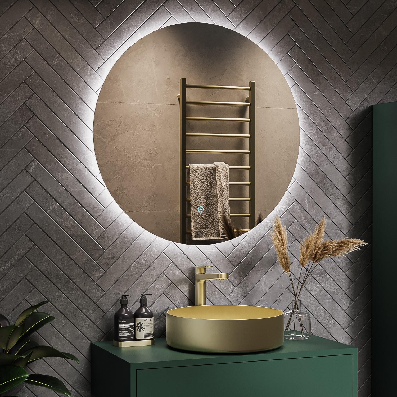 Round Backlit Mirror 800 X 800mm Luna Better Bathrooms