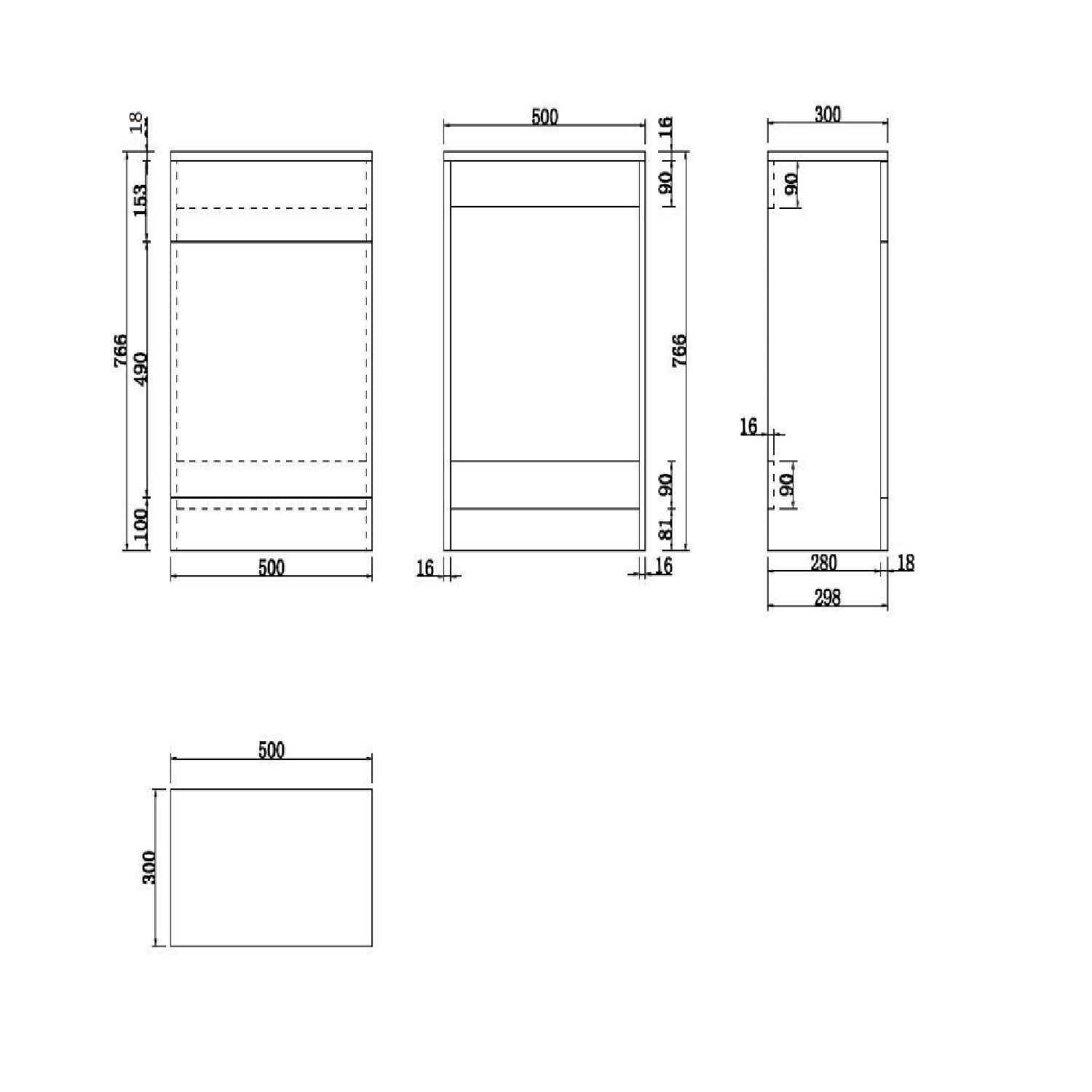 500mm X 300mm Cloakroom Wc Toilet Unit White Classic Better