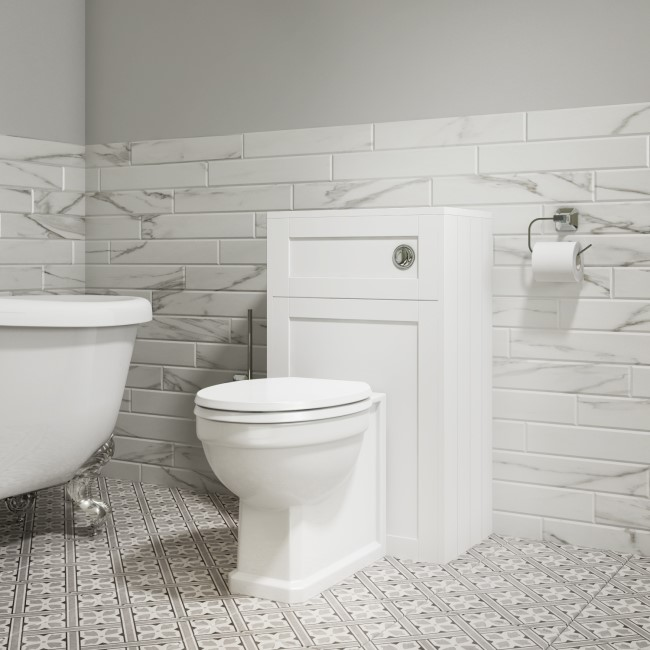500mm WC Toilet Unit - Matt White - Traditional - Baxenden