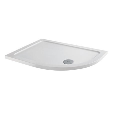 Slim Line Anti-Slip 900 x 760 Right Hand Offset Quadrant Shower Tray