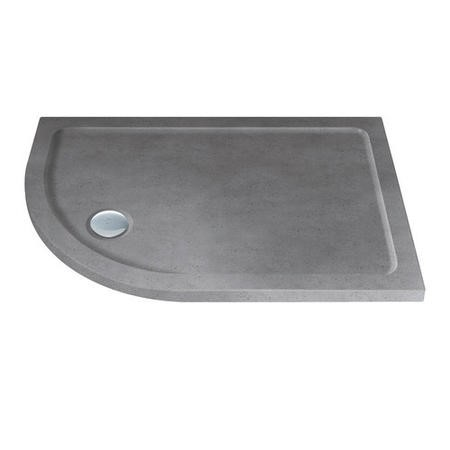 Slim Line Grey Sparkle 900 x 800 Left Hand Offset Quadrant Shower Tray