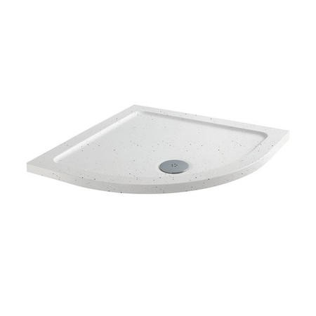 Slim Line White Sparkle 800 x 800 Quadrant Shower Tray