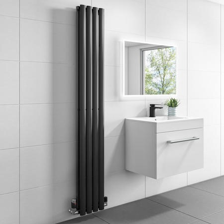 1600mm x 240mm Double Panel Anthracite Vertical Radiator - Margo