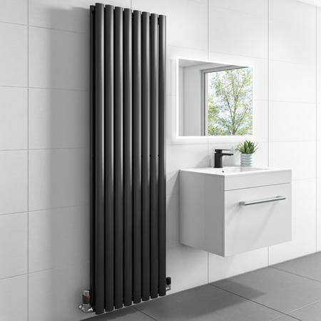 1600mm x 480mm Double Panel Anthracite Vertical Radiator - Margo