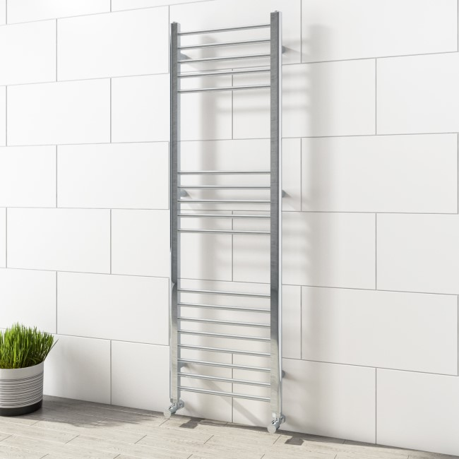 Sahara Chrome Heated Towel Rail - 1600 x 600mm
