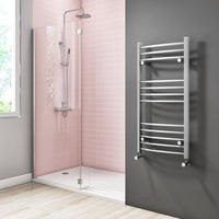 Gobi Chrome Heated Towel Rail