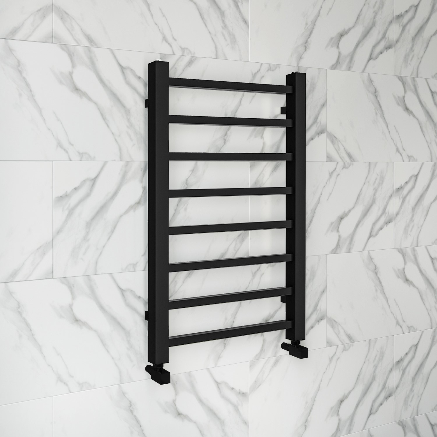 Sonoran Black Heated Towel Rail 800 X 500mm Better Bathrooms