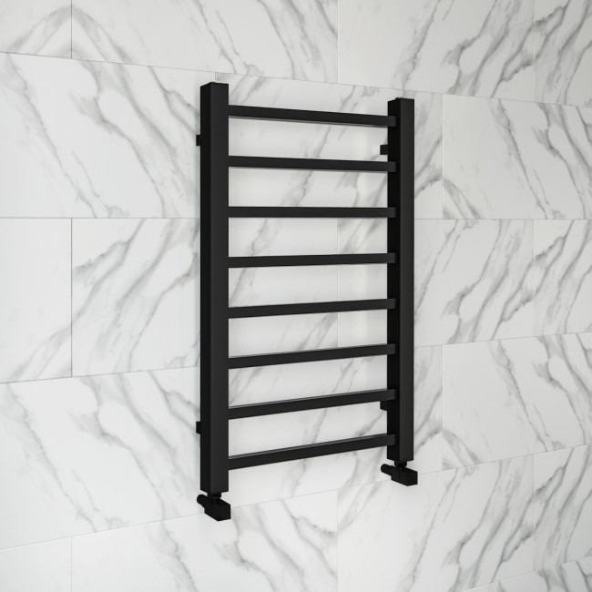 Sonoran Black Heated Towel Rail - 800 x 500mm