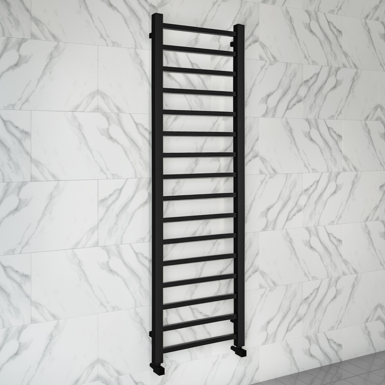 Sonoran Black Heated Towel Rail 1600 X 500mm Better Bathrooms