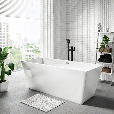 Riga Double Ended Freestanding Bath - 1590 x 690mm