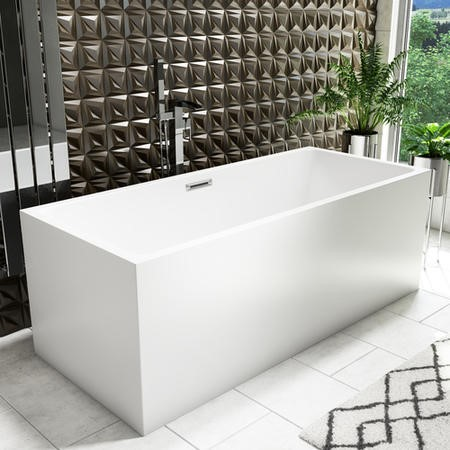 Geneva Double Ended Freestanding Bath - L1590 x H700mm