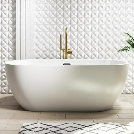 Lago Double Ended Freestanding Bath - Matt White - 1650 x 750mm