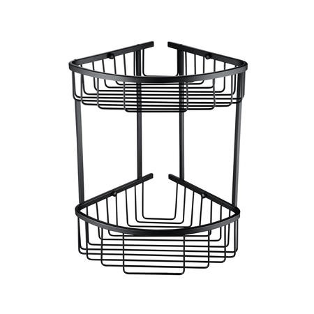 Arissa Matt Black Deep Double Corner Basket