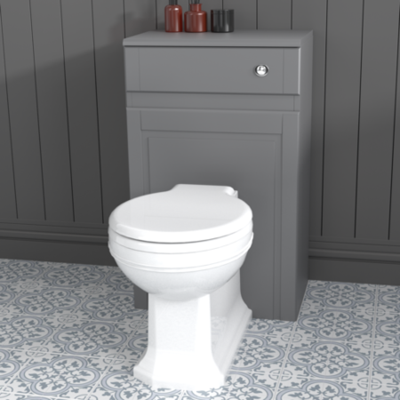 Traditional Grey Toilet  WC Unit - 500mm - Westbury Range