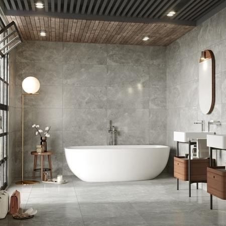 41cm x 81cm Trema Grey Wall Tile
