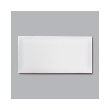 10cm x 20cm Metro Bevelled White Wall Tile
