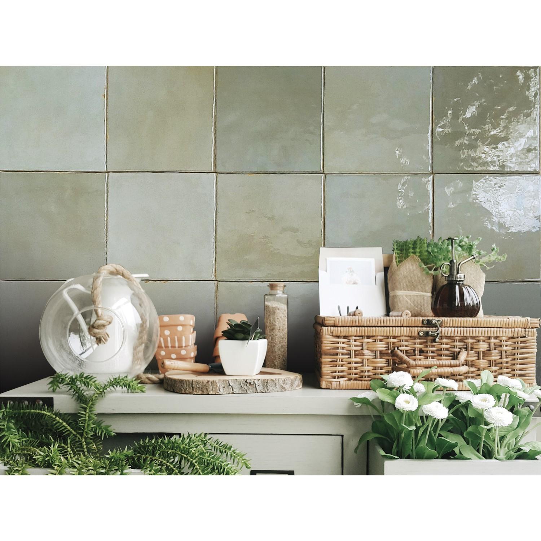 13 2cm X 13 2cm Sombra Square Sage Wall Tile Better Bathrooms
