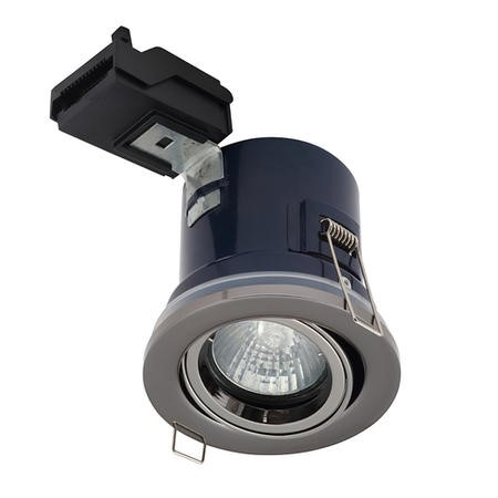 Black Adjustable IP44 Fire Rated Downlight