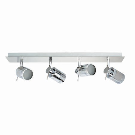 Scorpius 4 Light Chrome Ceiling Spotlight Bar