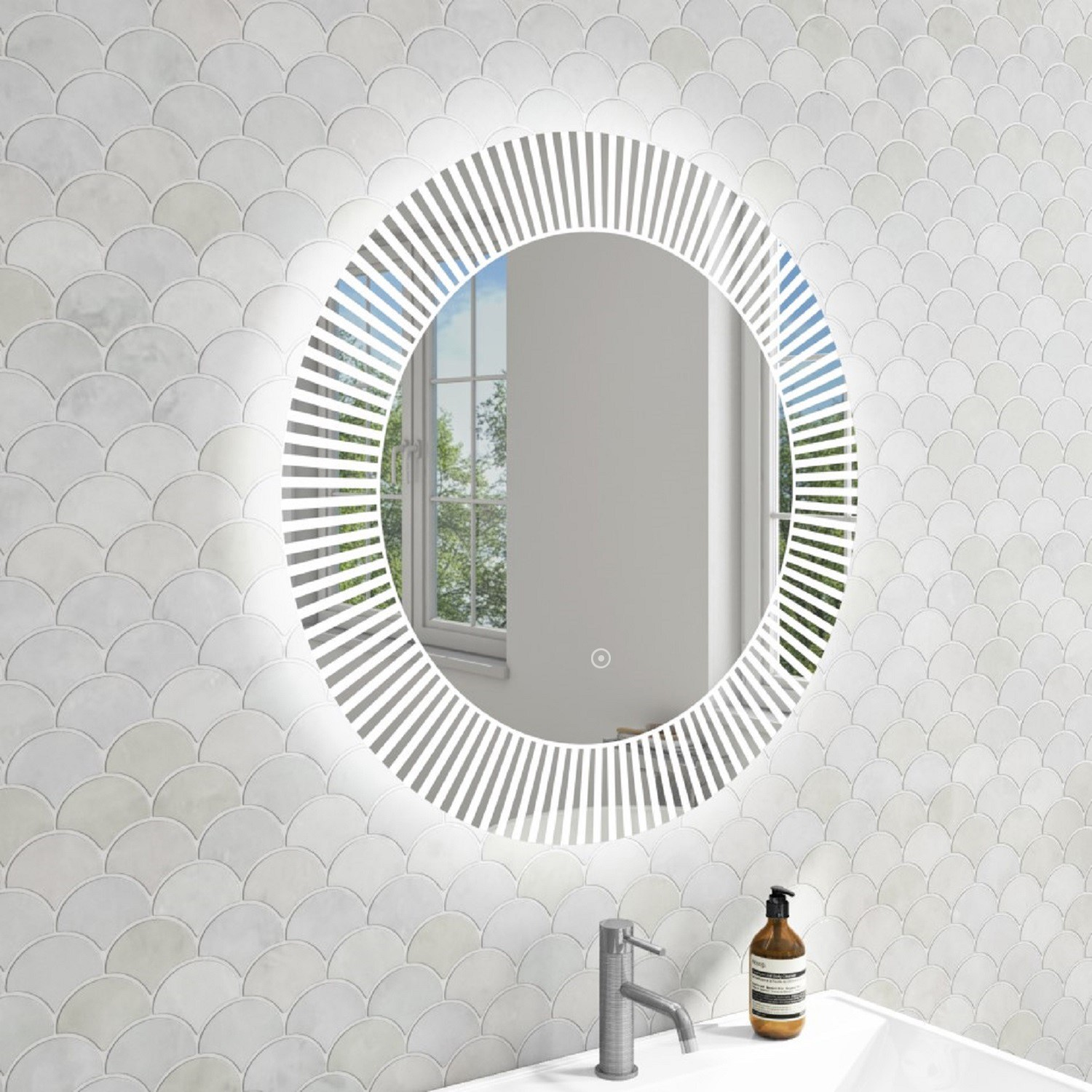Round Led Bathroom Mirror With Demister 800mm Empire Better Bathrooms