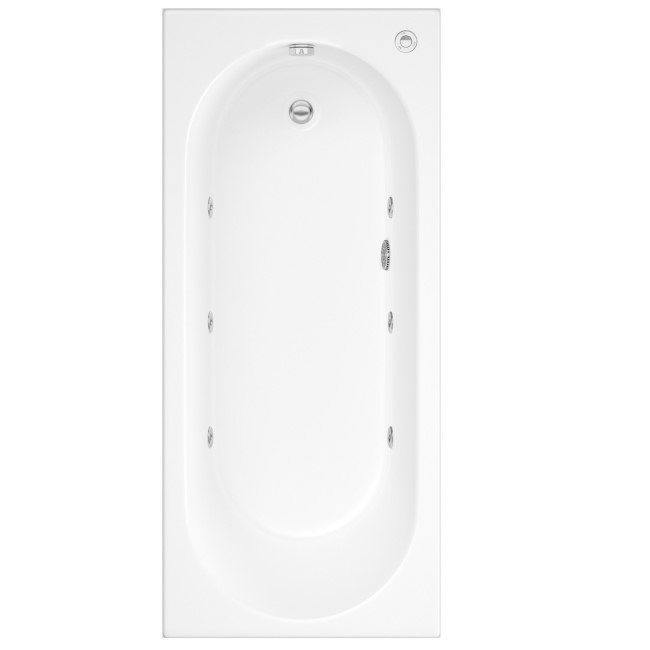Alton Single Ended Bath with 6 Jet Whirlpool System - 1700 x 750mm