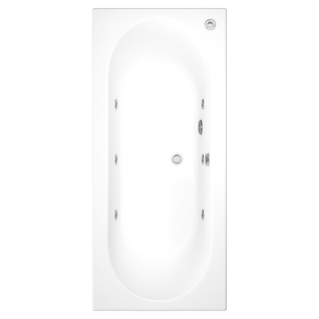 Burford Double Ended Bath with 6 Jet Whirlpool System - 1800 x 800mm