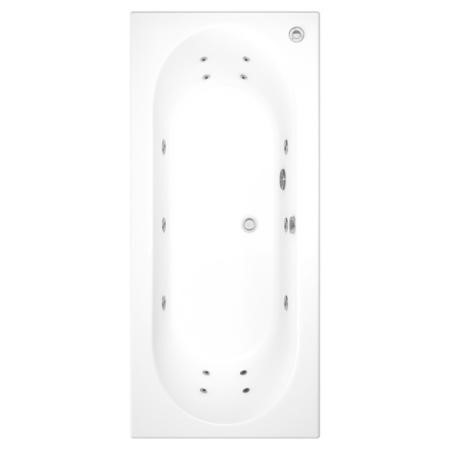 Burford Round Double Ended Bath With 14 Jet Whirlpool System -1700 x 750mm