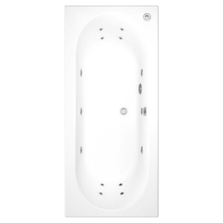 Burford Round Double Ended Bath With 14 Jet Whirlpool System -1800 x 800mm