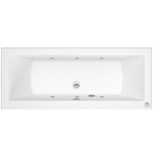 Chiltern Double Ended Bath with 6 Jet Whirlpool System - 1800 x 800mm